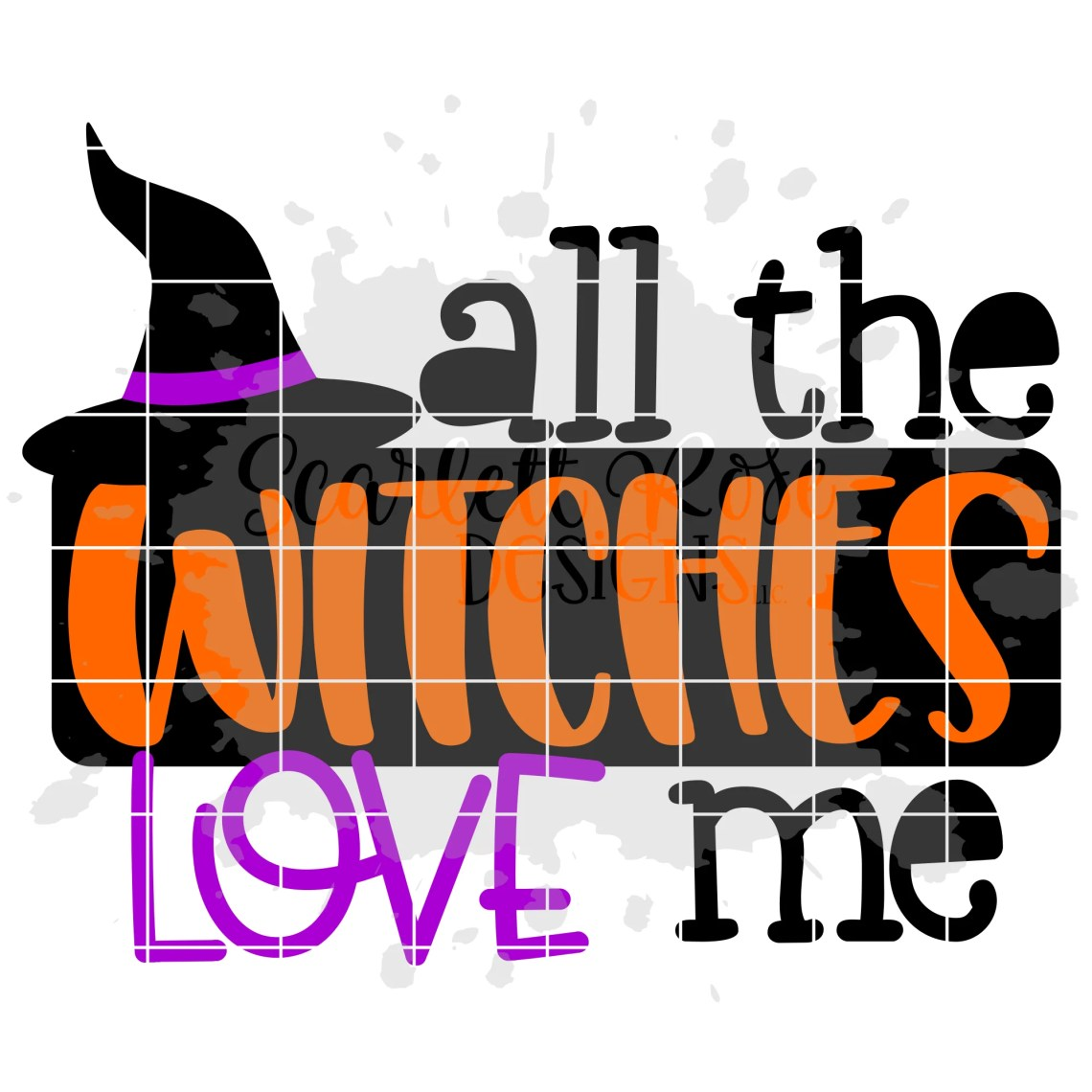 Download Halloween SVG, All the Witches Love Me SVG - Scarlett Rose ...
