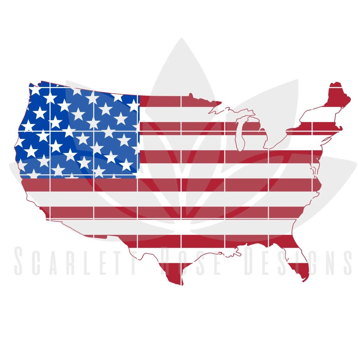 Download Fourth of July SVG, USA American Flag SVG - Scarlett Rose ...