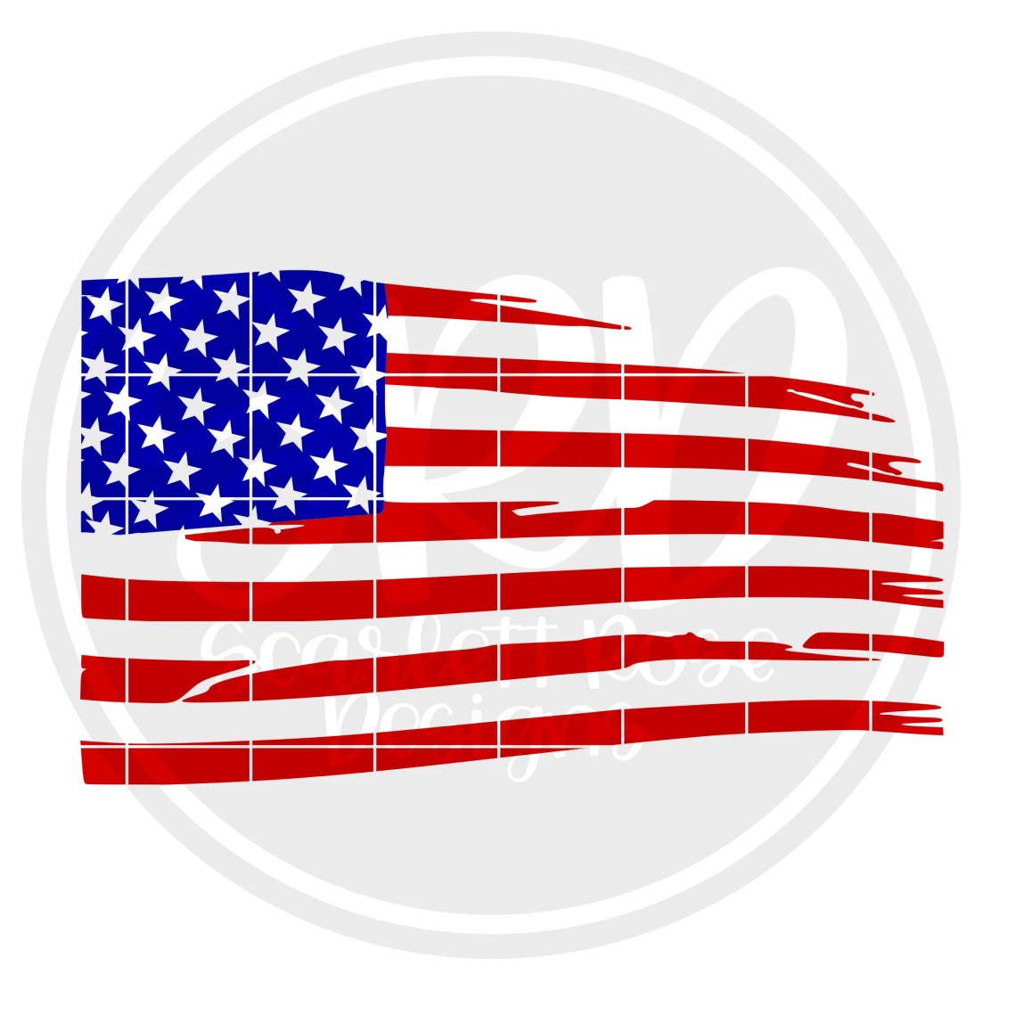 Download Fourth of July SVG, Distressed American Flag SVG cut file ...