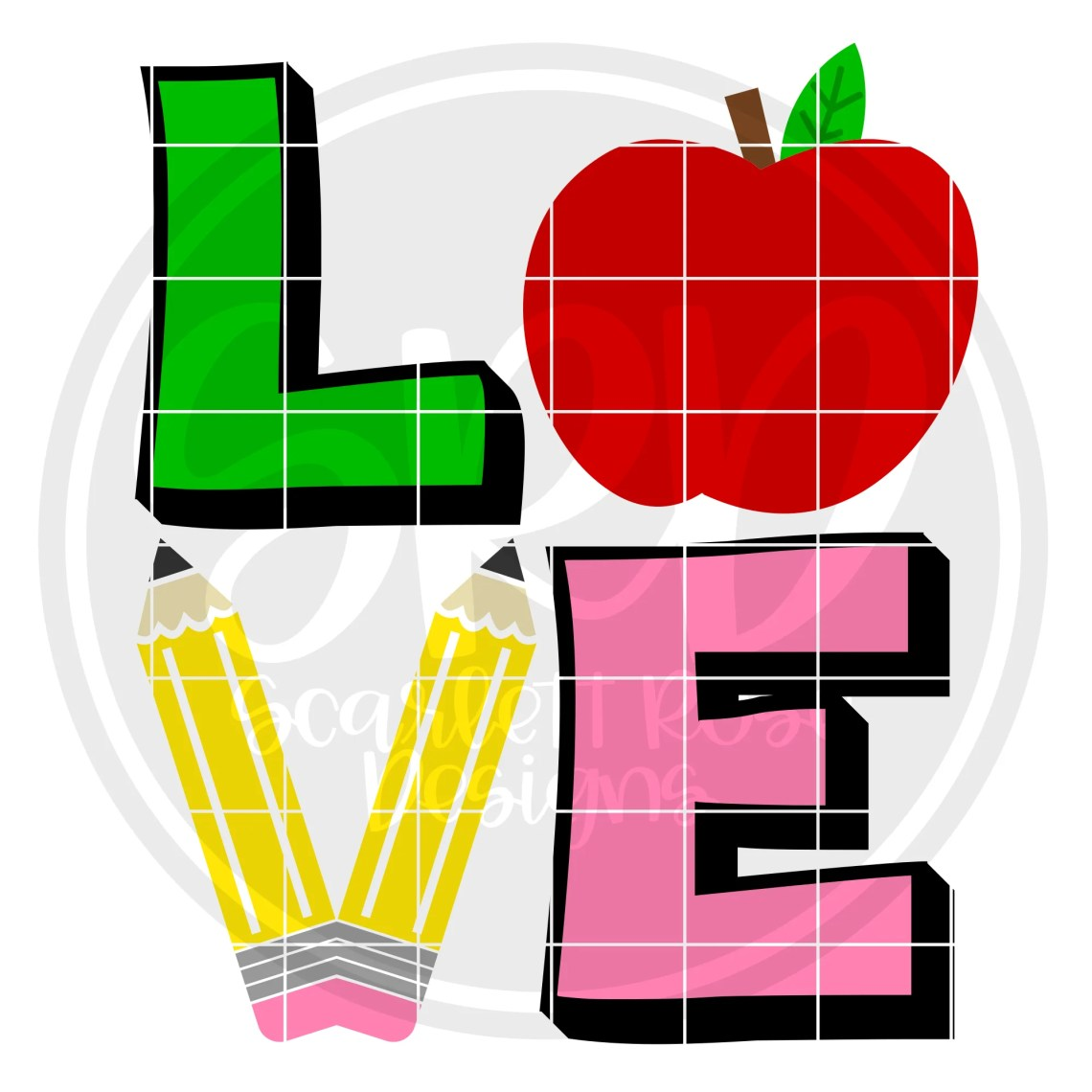 Download Teacher Appreciation SVG cut file, LOVE teaching SVG ...