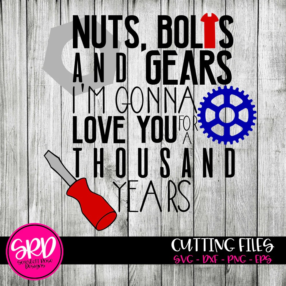 Download Father's Day, Best Dad SVG cut file, Nuts, Bolts and Gears ...