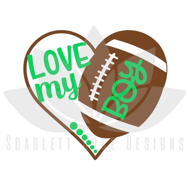 Download Football Heart SVG, Football Mom decal, Love my Boy ...