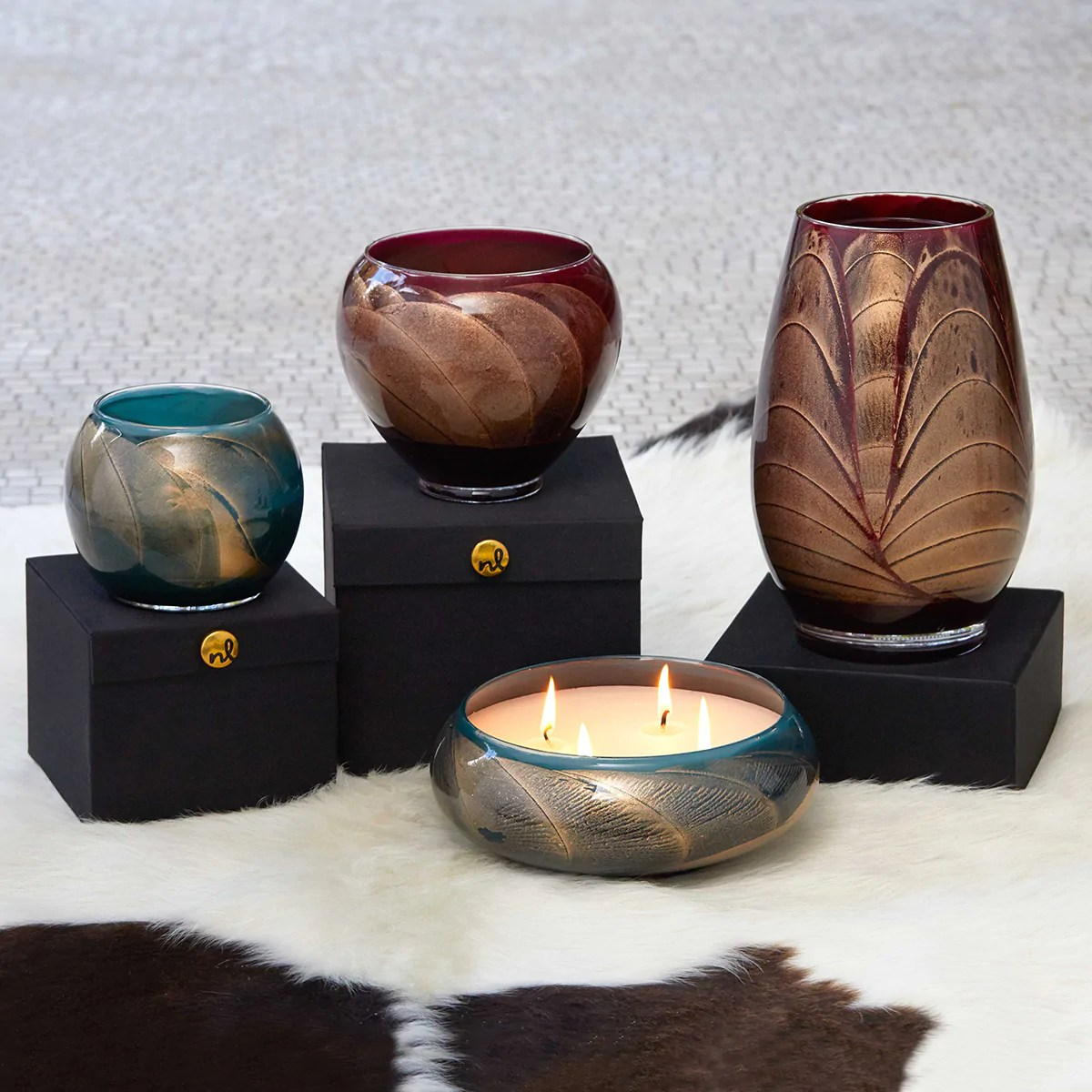 Northern Lights Candles Esque