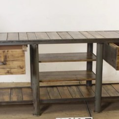 Kitchen Workbench Shelving Vintage Industrial European Table Counter Island 2 7 Mt 2200 6911 In Byron