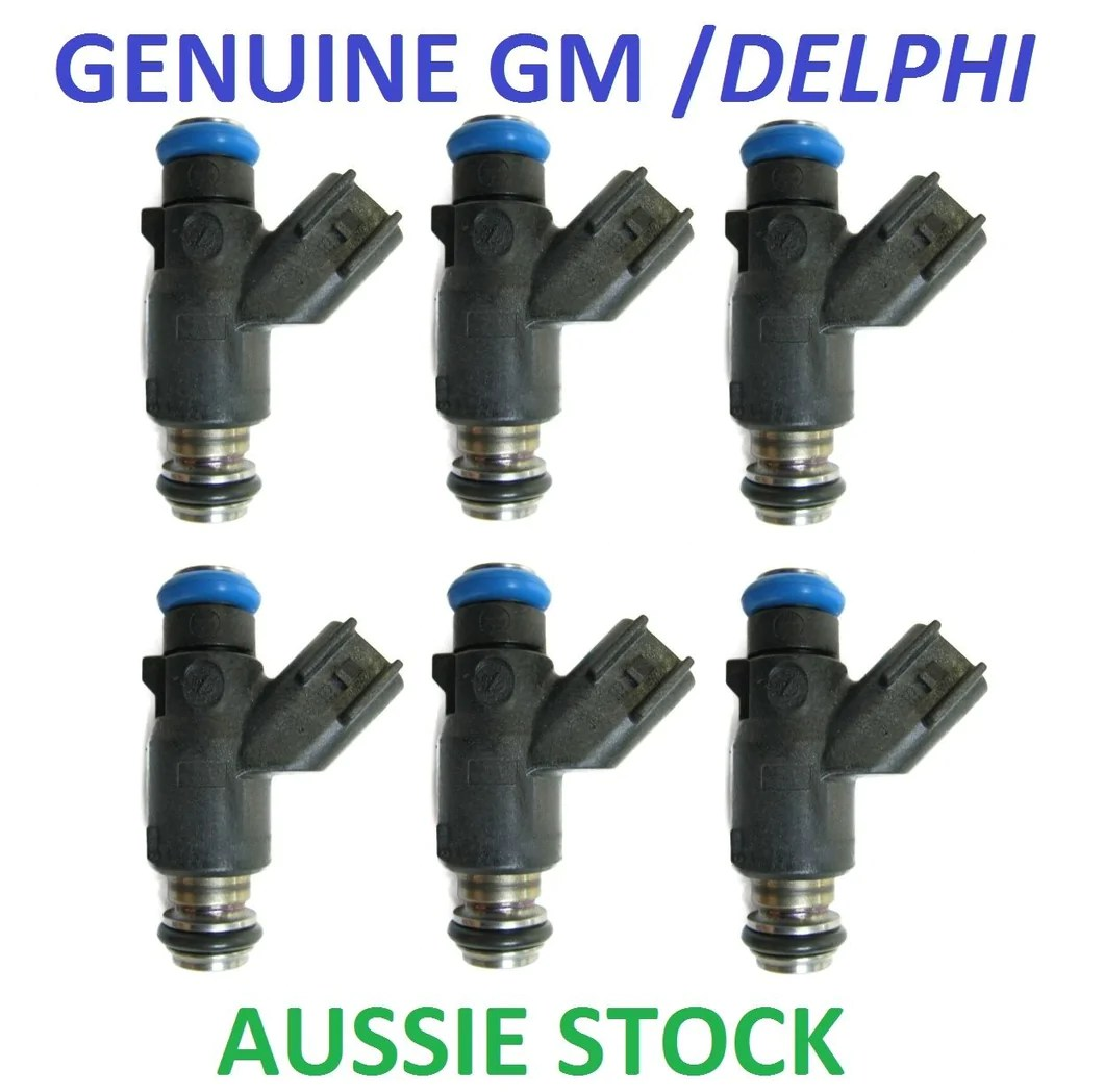 6x genuine delphi fuel injectors bmw e36 e46 m50 s50 s54 m3 turbo 440cc 520cc [ 1060 x 1048 Pixel ]