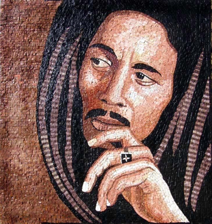 Bob Marley Mosaic Artwork  Human figures  Mozaico