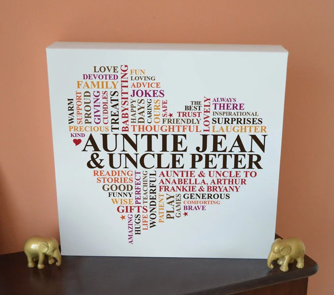 auntie uncle canvas gift