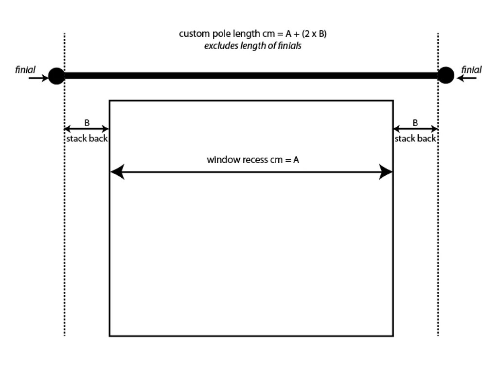 size chart for curtain poles paul