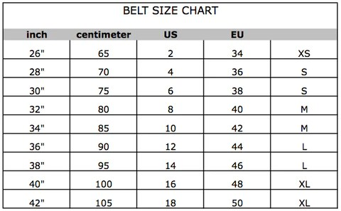 Belt size conversion chart also women   clothing designer discounts ual united apparel liquidators rh storeopual