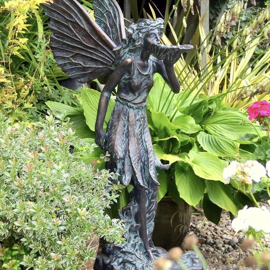 Large Standing Fairy Garden Sculpture Garden Fairy Candle And Blue Candle And Blue Interiors