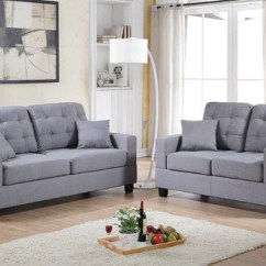 Sofa Gray Color Serta Bed Reviews Grey 2pc Set Vivi Furniture