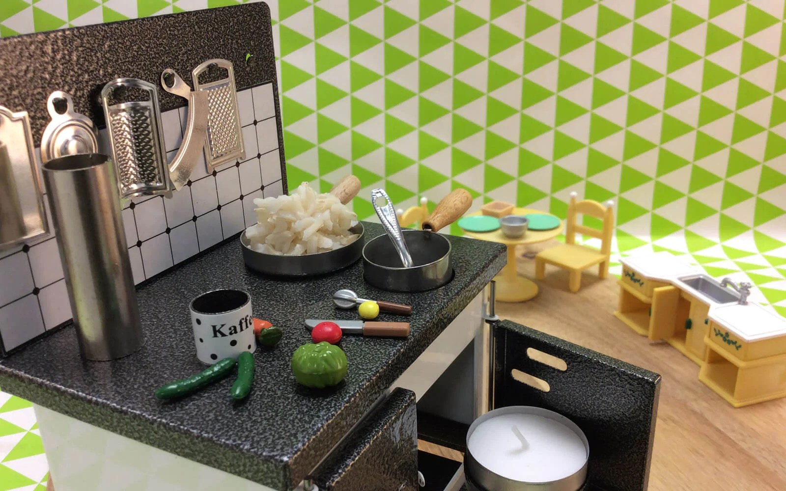Tiny Kitchen Cooking Meets Doll House Huss Incense