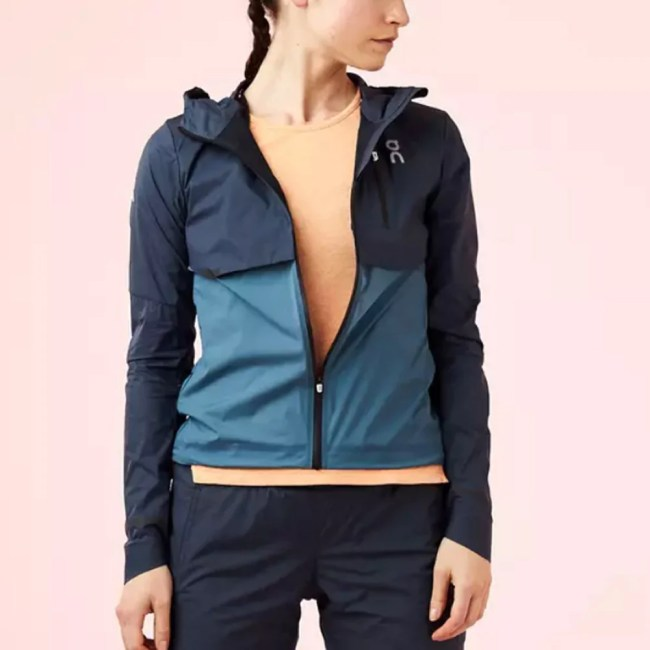On Weather Jacket Women's Running Apparel Navy/Storm