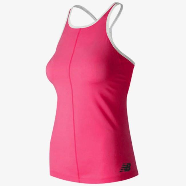 New Balance Centre Court Tank Women's Tennis Apparel Alpha Pink