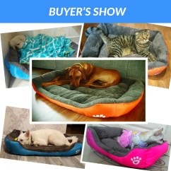 Soft Sofa Dog Bed Round Lobby Cloth Fabric House Pet Cat Kennel Furniture Dogs Indoor Sleeping