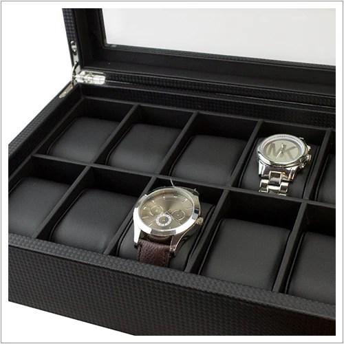 Mens Watch Organizer Box 12 Slots Glenor Co