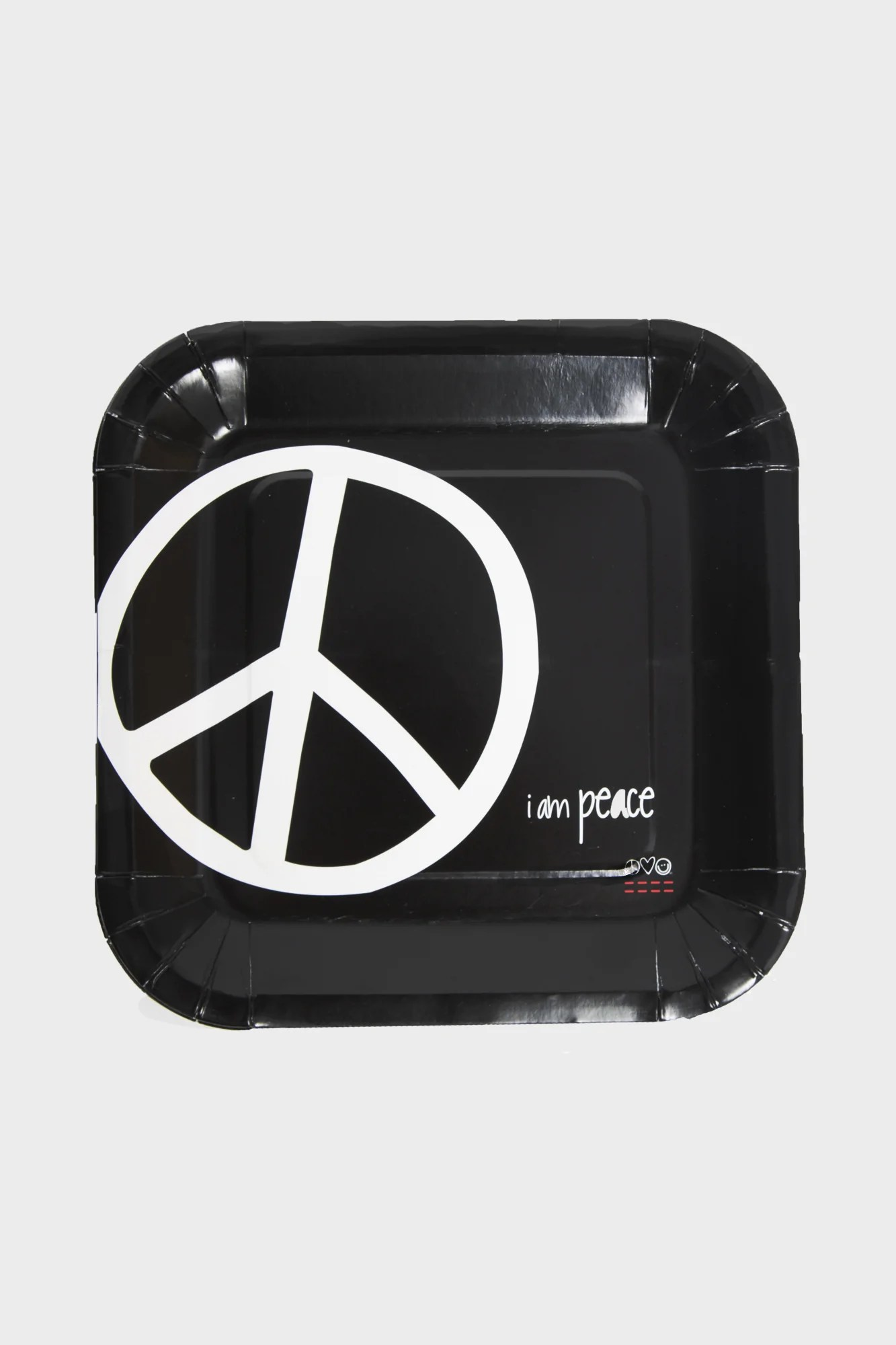 i am peace plates