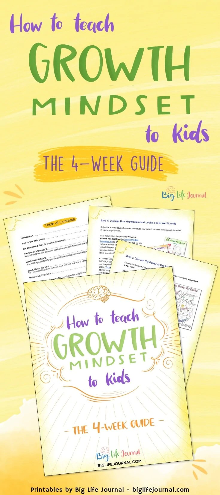 How to Teach Growth Mindset to Kids (The 4-Week Guide) – Big Life Journal [ 1650 x 735 Pixel ]