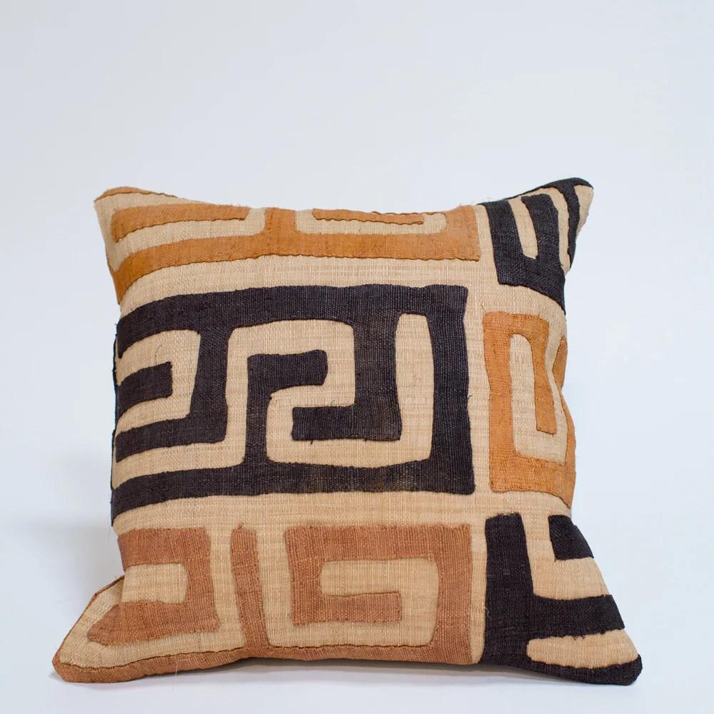 maze kuba cloth pillow
