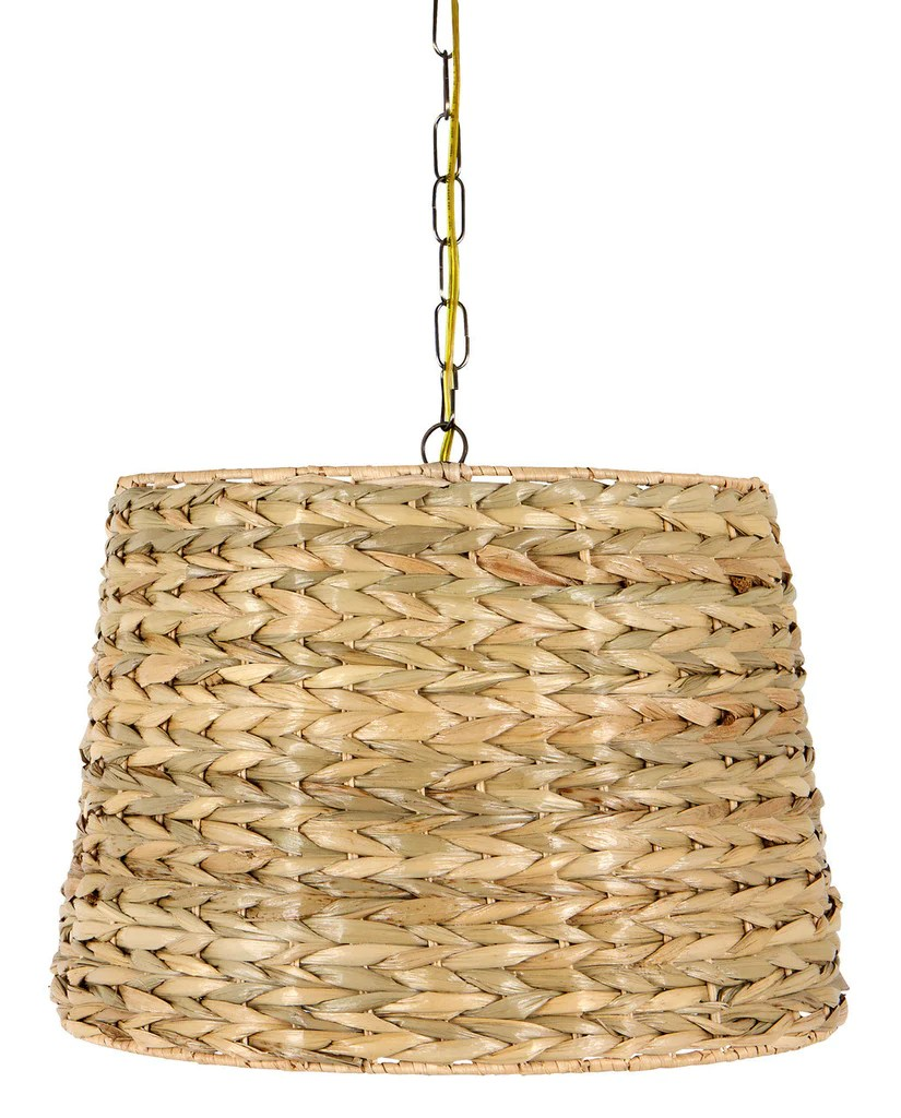 UpgradeLights Woven Seagrass 16 Inch Drum Portable Swag