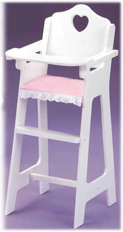 badger basket high chair heel chairs white doll with plate bib and spoon the