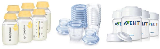 breast milk storage bottles and containers