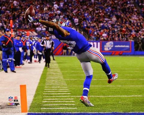 odell beckham jr the catch 2014 new york giants premium poster photofile 16x20