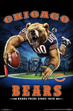 chicago bears posters sports