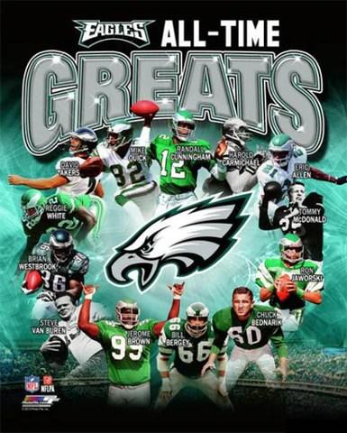 philadelphia eagles all time greats 14 legends premium commemorative print photofile inc