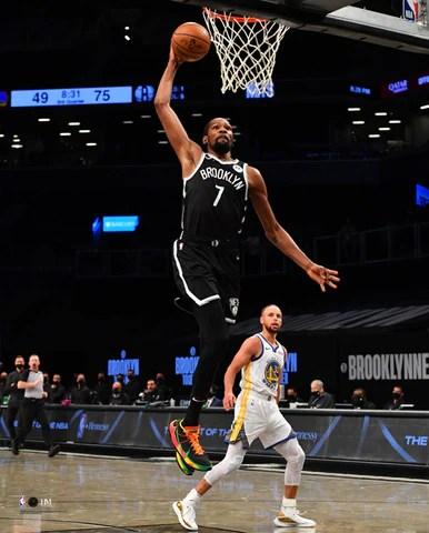 kevin durant brooklyn slam brooklyn nets premium 16x20 nba basketball poster print highland mint