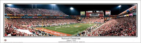 ohio state buckeyes 2002 national championship game panoramic poster print everlasting images
