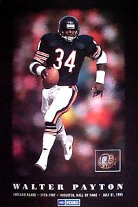 walter payton nfl hall of fame chicago bears commemorative poster ford 1993