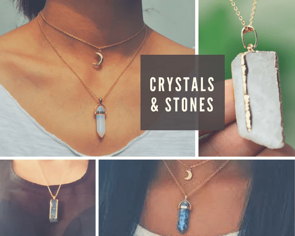 crystal and stone necklaces