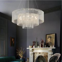 Hanging Pendant Light Living Room Furnitures Sale Buy Luxurious Tassel Vintage Chandelier Dining Silver Lamp At Lifeix
