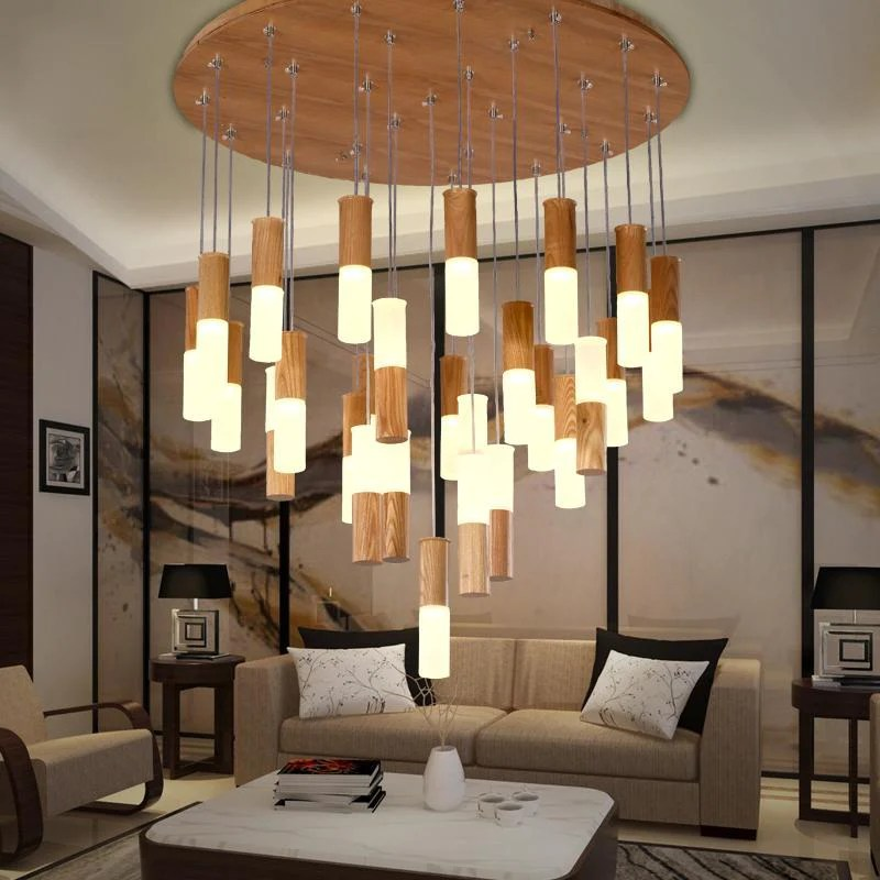 Buy Solid Wood Pendant Light  Modern Style Decorative