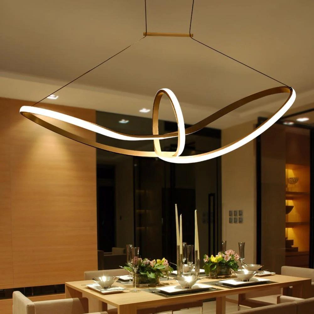Buy Twisted LED Pendant Light - Modern Style Ceiling Lamp ...
