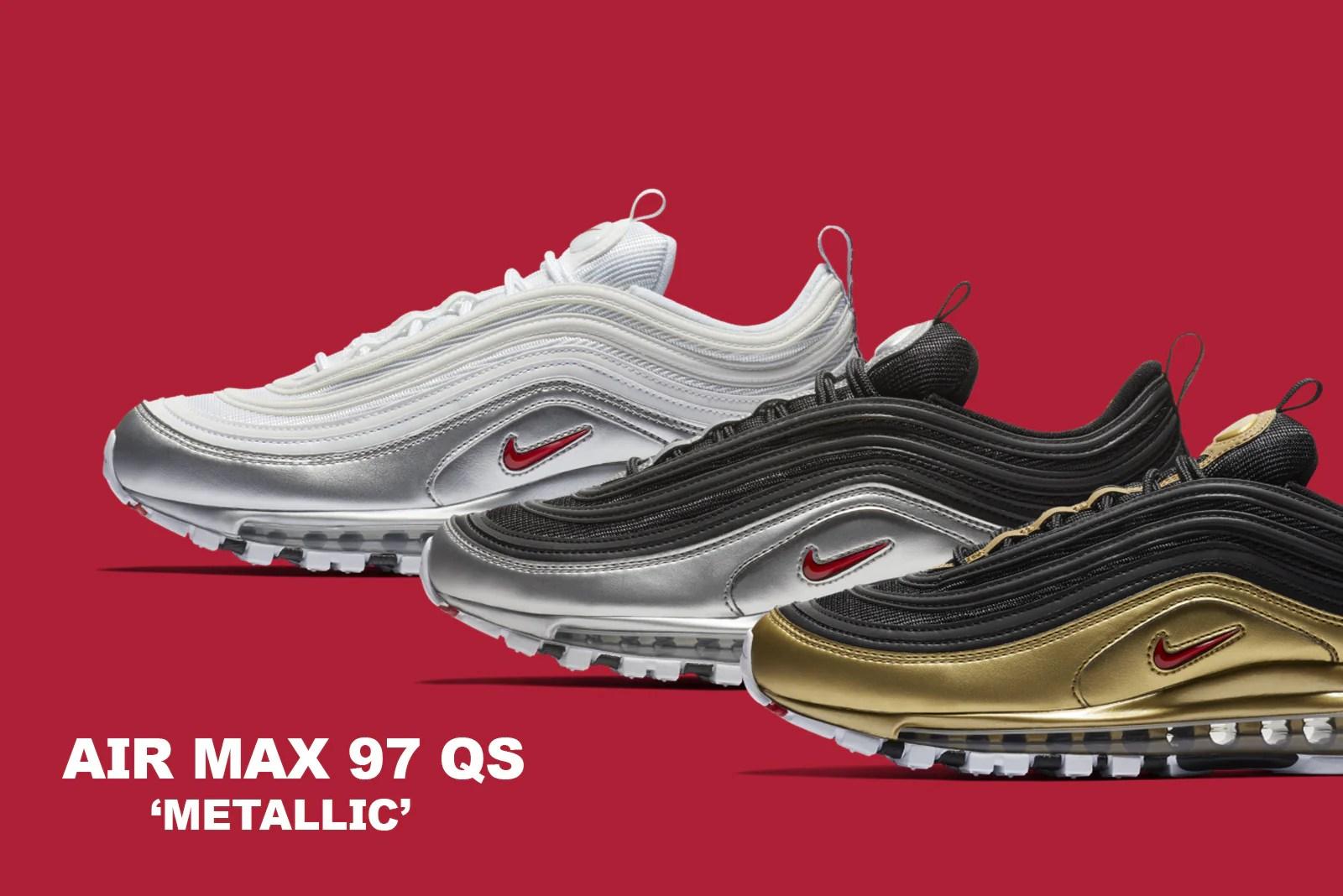 Air Max Qs 97   Nike Air Max 97 Qs Bsides Black Metallic