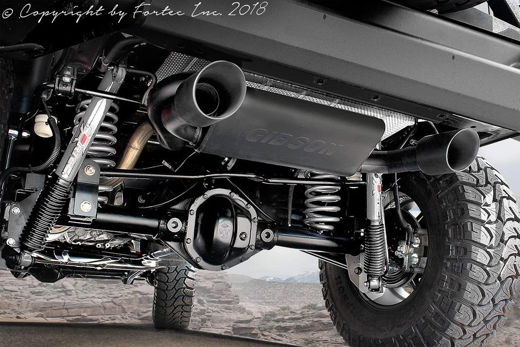 fortec dual exhaust system by gibson for 07 18 jeep wrangler jk jk unlimited