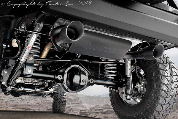 FORTEC Dual Exhaust System by Gibson for 0718 Jeep