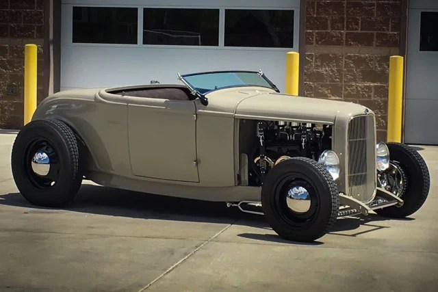 1932 Ford Roadster Custom Relicate Distressed Leather Interior
