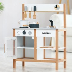 Wood Kitchen Set Best Countertops For Nunukids Wooden Play Agoramart