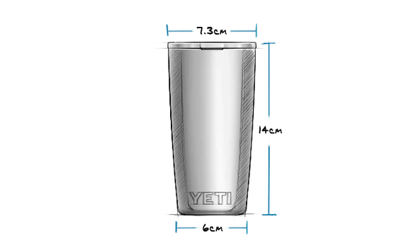10 oz Tumbler with Magslider Lid (295ml) Exterior