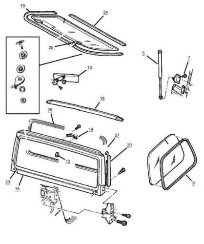 jeep wrangler door parts diagram
