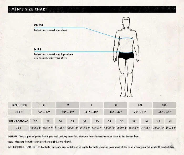 Men   size chart boys clothing also charts  neill rh usill