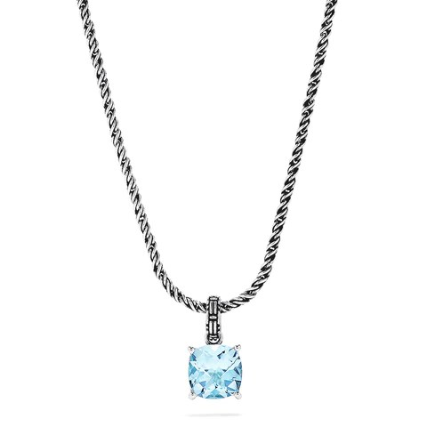 Effy 925 Sterling Silver Blue Topaz Pendant, 5.33 TCW