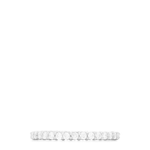 14K White Gold Prong Set Diamond Eternity Band, 0.50 TCW