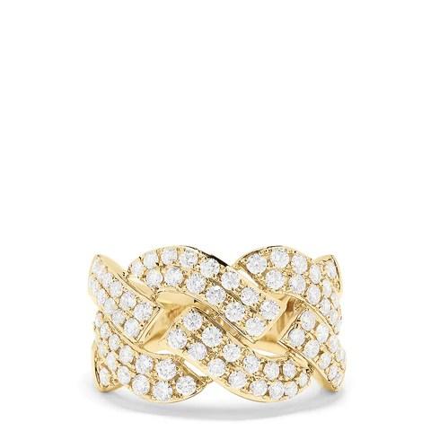 Effy D'Oro 14K Yellow Gold Diamond Braid Ring, 1.33 TCW
