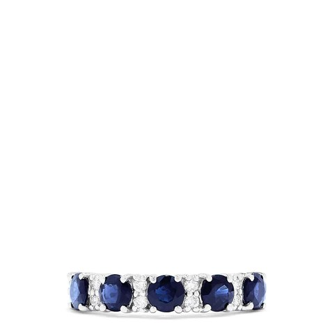Effy Royale Bleu 14K White Gold Blue Sapphire and Diamond Ring, 1.80 TCW