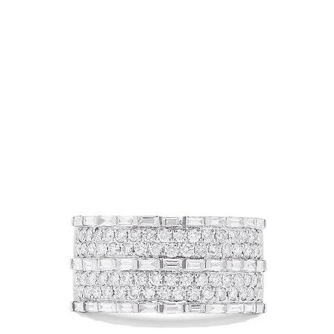 Effy Pave Classica 14K White Gold Diamond Ring, 1.42 TCW