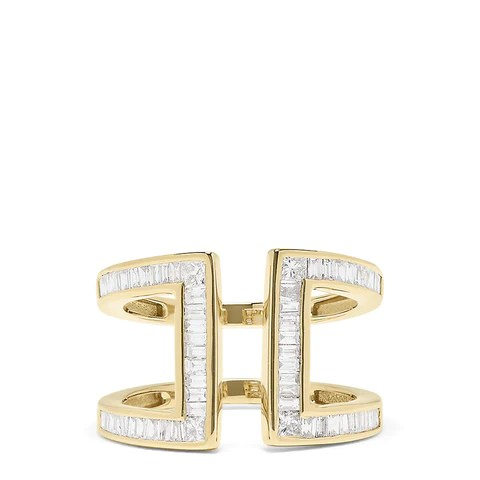 Effy D'Oro 14K Yellow Gold Diamond Ring, 0.82 TCW